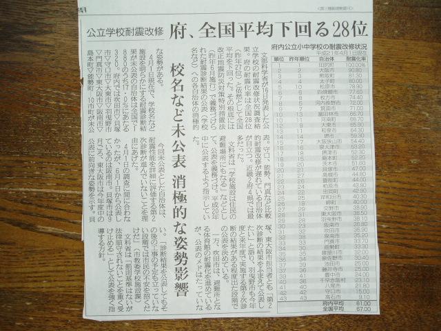 09年公立小中学校耐震改善状況