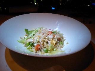 SENSE夜 タラバ蟹とレタス入り炒飯