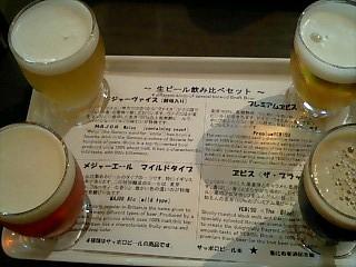 麦酒記念館 生ビール飲み比べセット②