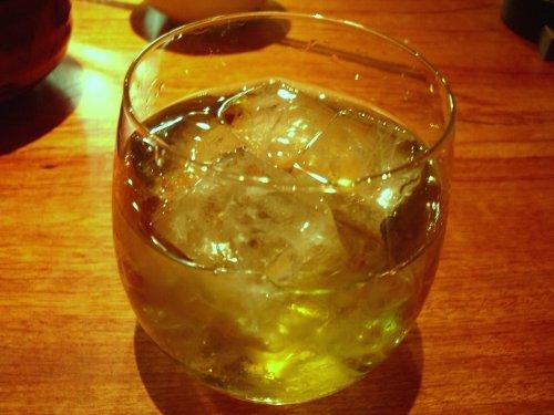 緑茶梅酒♪
