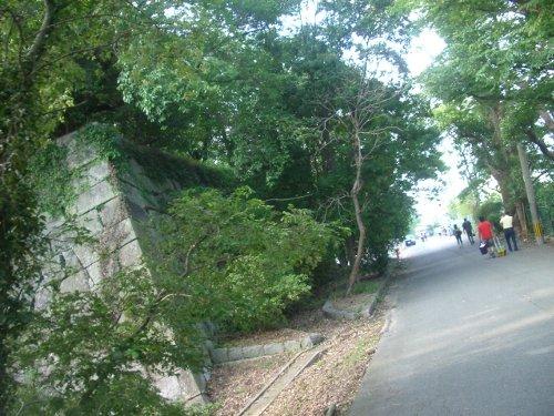 篠山城跡の脇を通り・・・
