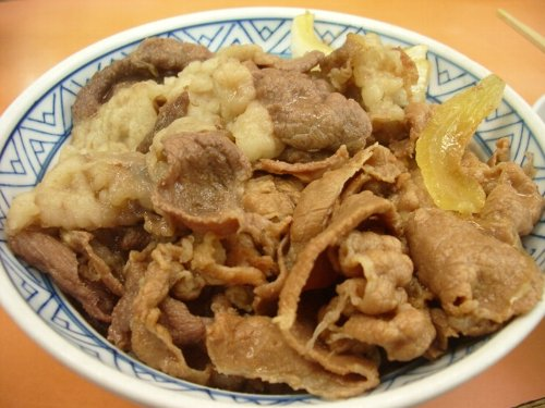 三河家の牛丼①♪