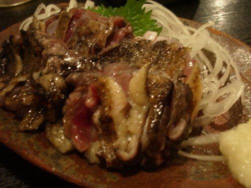 この地鶏タタキ。美味い