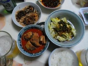 さんまの缶詰、夕食