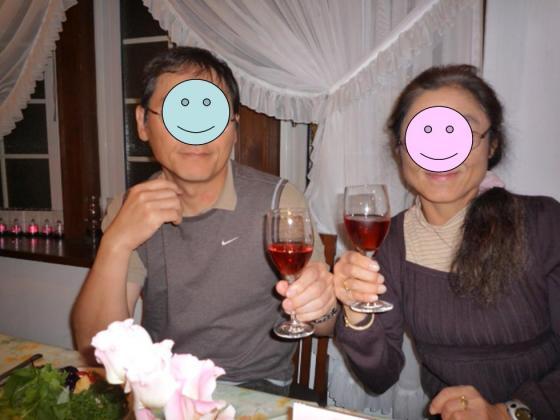 ワインでカンパイ~♪