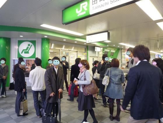 朝8時45分の田町駅の光景!