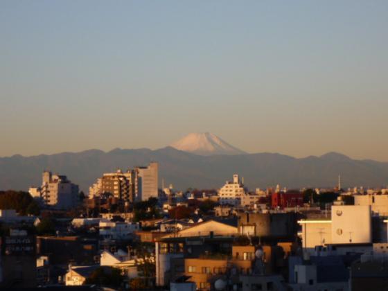 こんなにキレイな富士山が!