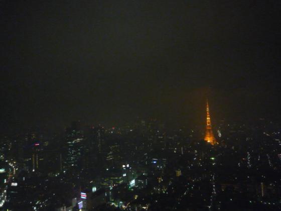 六本木ヒルズ49Fにて東京タワーを眺めながら・・・