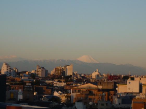 天気がよければ富士山が!
