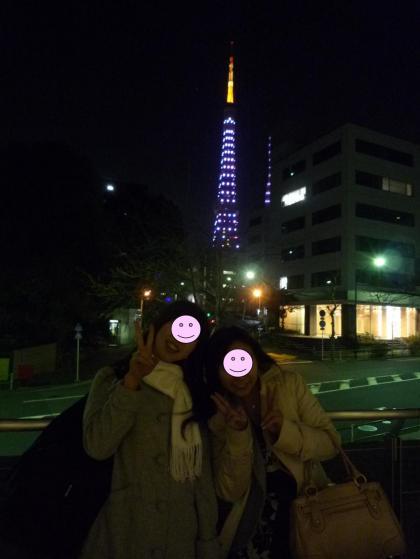 東京タワーのふもとにて♪