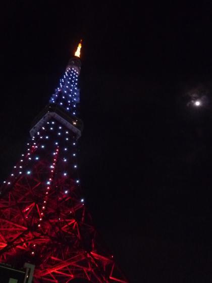 ダイヤモンドヴェールの東京タワーと月♪