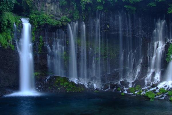 夕暮れ前の白糸の滝