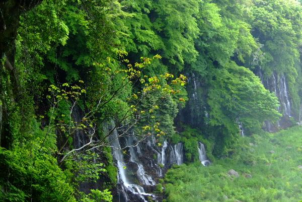 水煙の白糸の滝