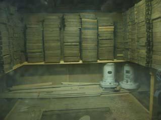 大豆を蒸す部屋