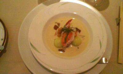 メロンとかにの冷製スープ