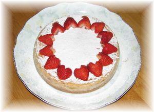 イチゴチーズケーキ1