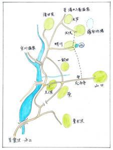藤原郷の地図