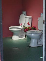 仲良くトイレ