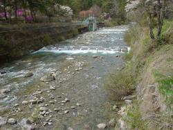 妙琴公園の吊り橋の上から