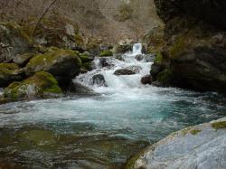 塩川。上流へ向かって