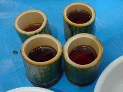 竹で作った蕎麦チョコ