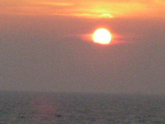 平砂浦に沈む夕日
