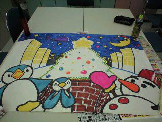 介護実習で描いたクリスマス