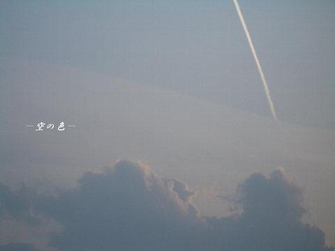偶然出会った飛行機雲