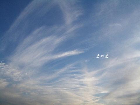 空一面に広がる薄雲。