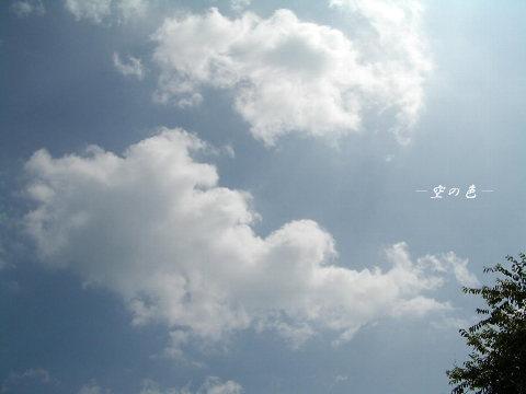 優しい水色に浮かぶ雲。