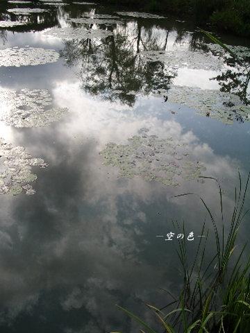 湖面に映る空。