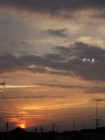 染まり始める空は、怪しげな色。