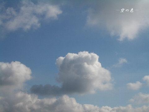 ポカンと浮かぶ雲。