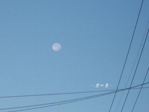 電線に囲まれたお月様。