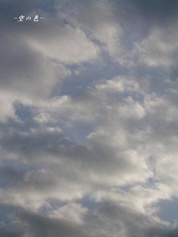 忙しそうに動く朝の雲。