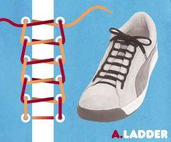 はしご結び・靴ひも・結び方