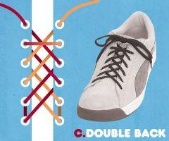 ダブルバック結び・靴ひも・結び方