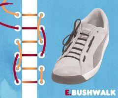 ブッシュウォーク結び・靴ひも・結び方