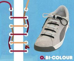 二色結び・靴ひも・結び方