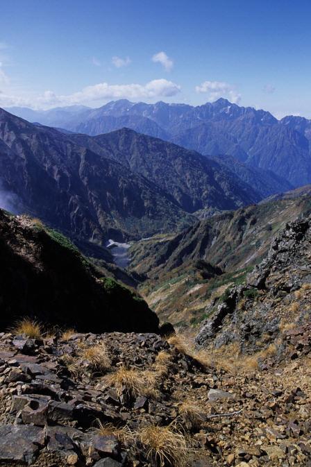 水晶岳、薬師岳、立山、剱岳1