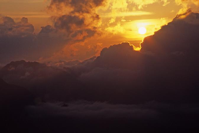 唐松岳山頂小屋の夕焼け2
