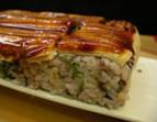 ヘルシーな五穀米の穴子の押し寿司