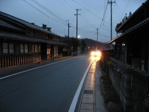 旧中山道・藪下バス停付近