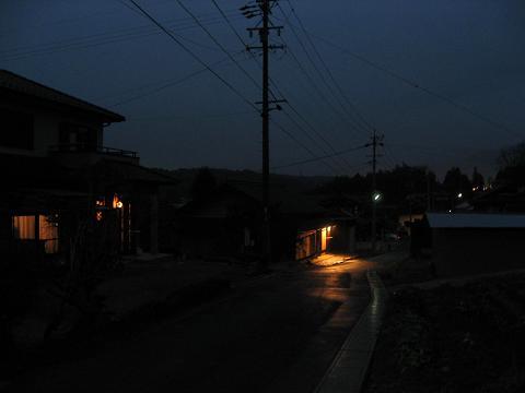 旧中山道・三ツ屋の一里塚付近