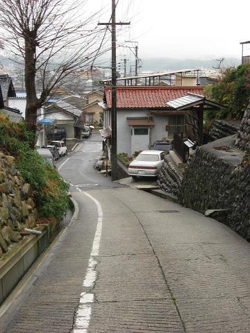 五妙坂と高札場