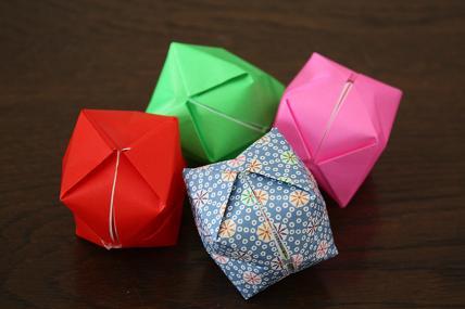 クリスマス 折り紙 : 風船 折り紙 : torajin523.blog39.fc2.com