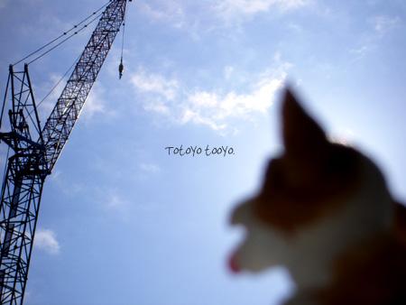 工事機械と犬の玩具