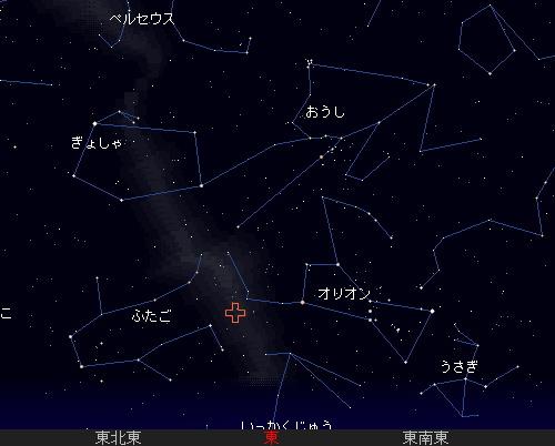 2008 10 21 オリオン座流星群星図