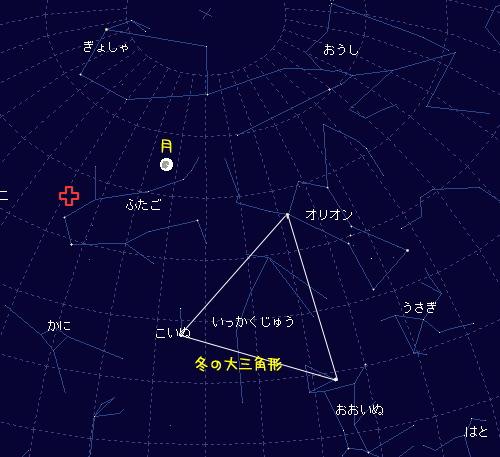 2008 12 13 ふたご座流星群星図