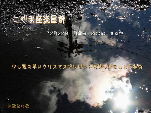 2008 12 22 こぐま座流星群
